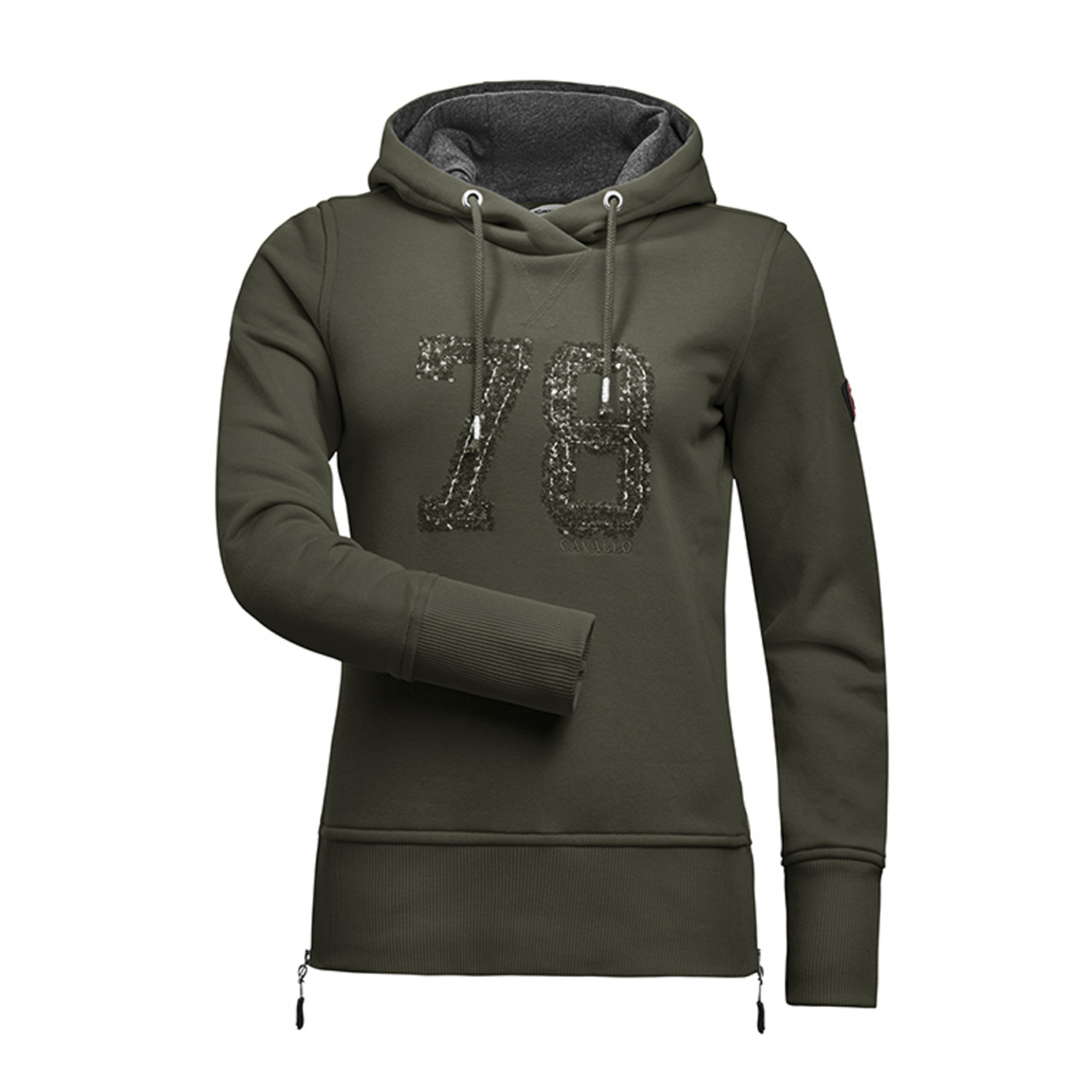 Cavallo Deep Forest Ladies Lexi Equestrian Hoody