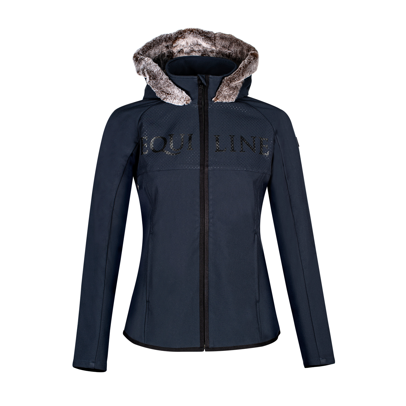 Equiline Navy Elly Ladies Equestrian Softshell Jacket