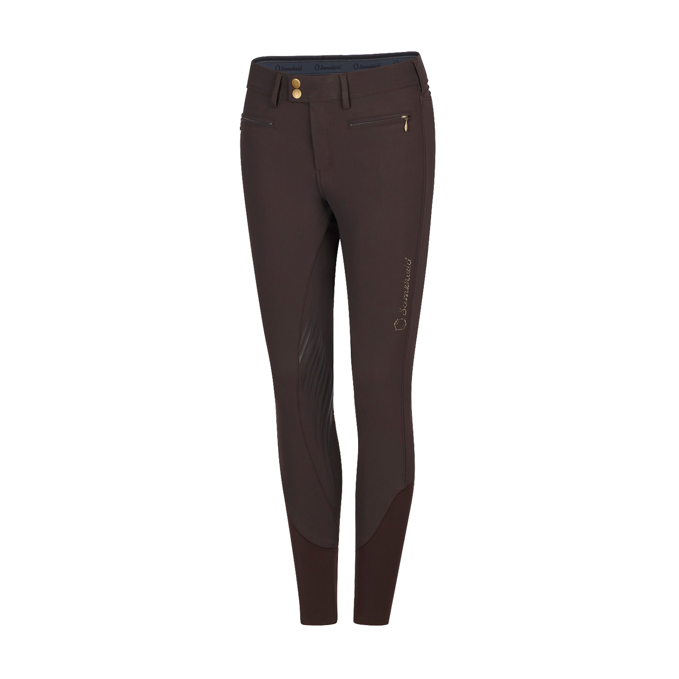 Samshield Adele Ladies Brown Equestrian Breeches