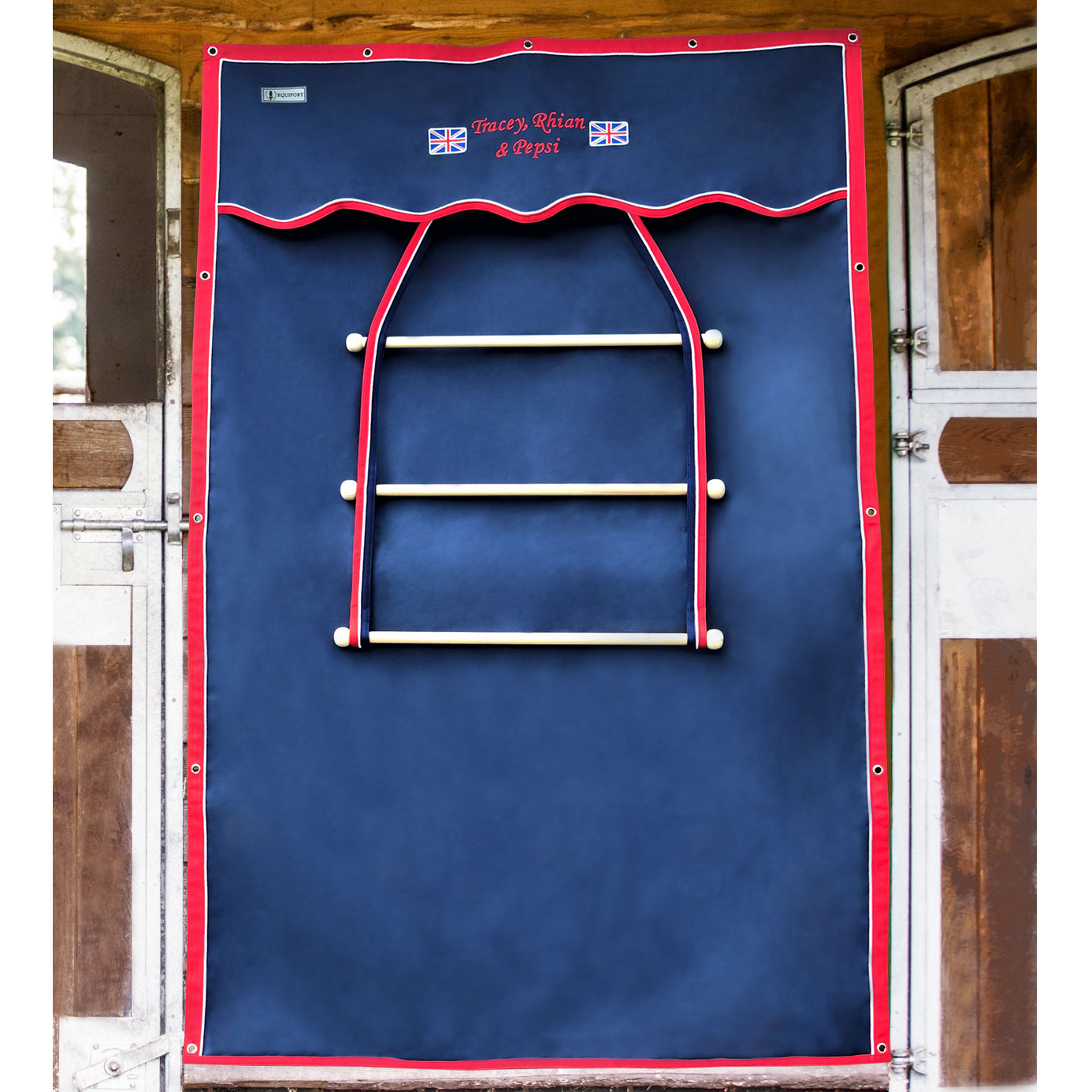 Equiport Integrated Stable Drape and Rug Rack