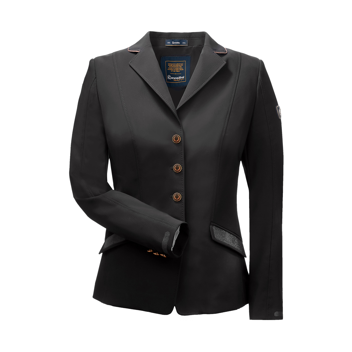 Cavallo Estoril Pro Bling Black Ladies Equestrian Show Jacket