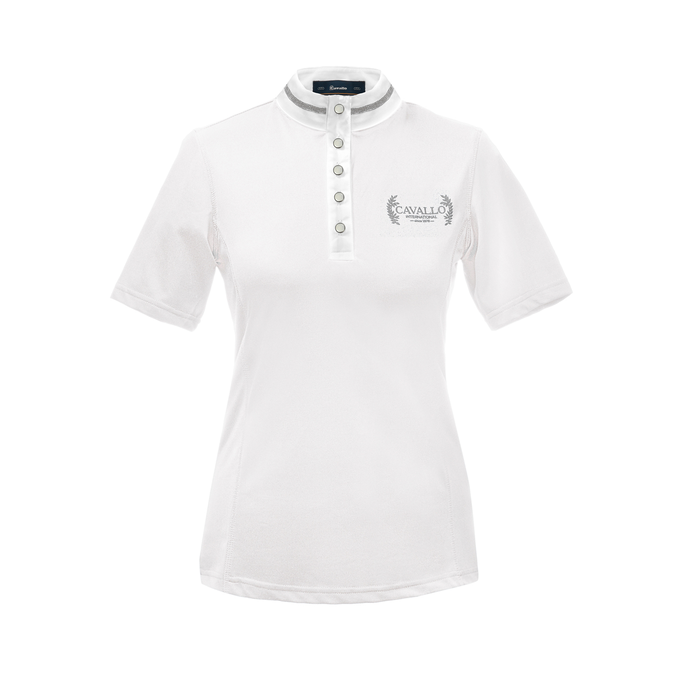 Cavallo Madlen White Ladies Equestrian Show Shirt