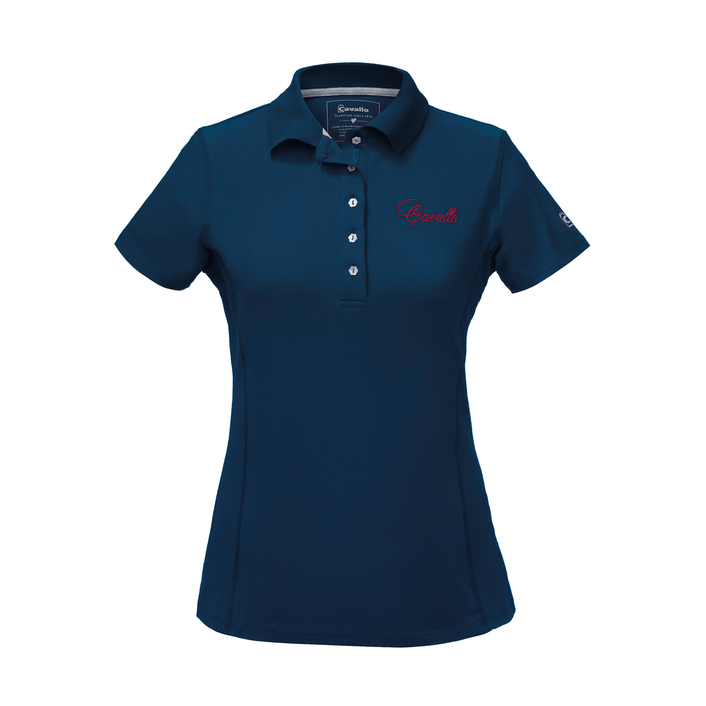 Cavallo Melissa Dark Blue Ladies Equestrian Polo Shirt