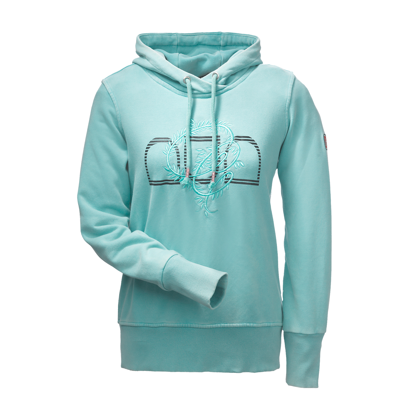 Cavallo Montana Thyme Green Hooded Equestrian Top