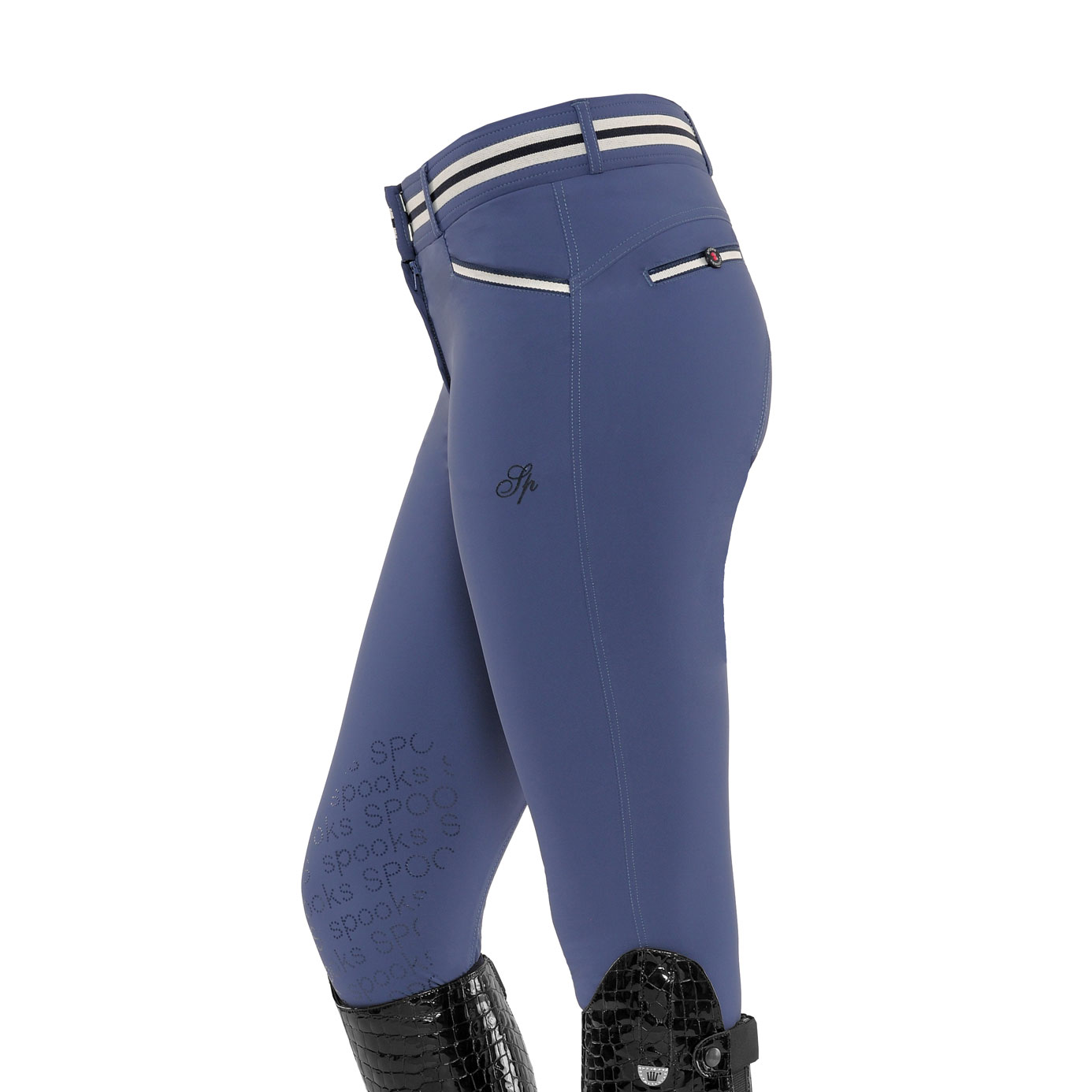 Spooks Ina Blue Light Knee Grip Ladies Equestrian Breeches