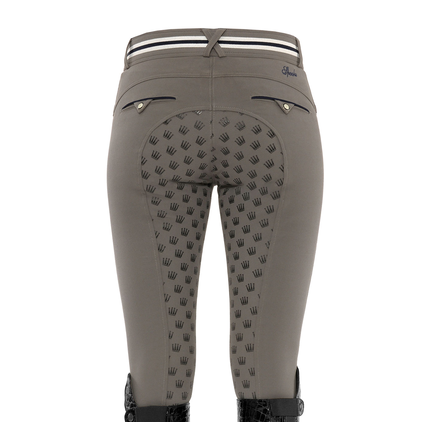 Spooks Fiona Full Grip Stone Grey Ladies Equestrian Breeches