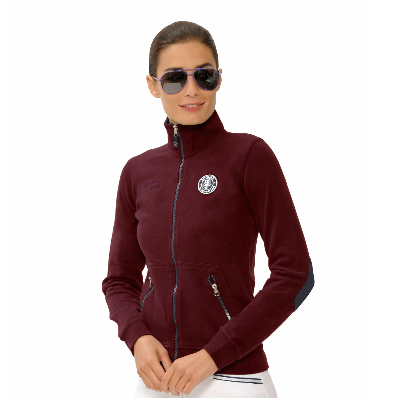 Spooks Marisa Bordeaux Equestrian Sweat Jacket