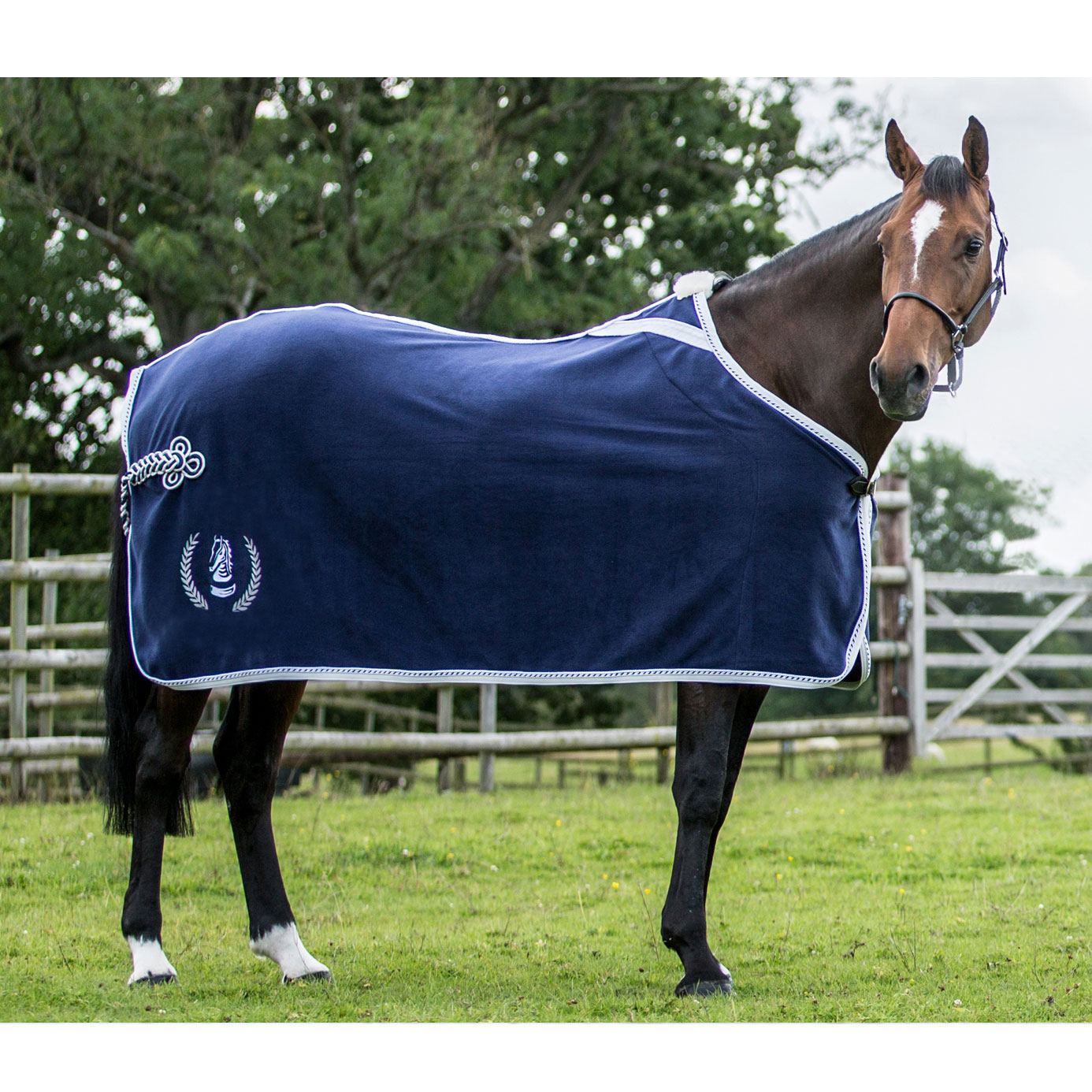 Equiport Embroidered Fleece Horse Show Rug