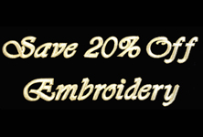 Get 20% Off Embroidery