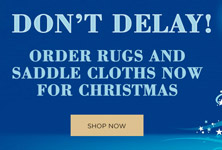 Order Rugs and Saddle Cloths Now For Christmas