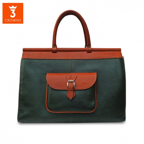 Green Leather Travel Bag