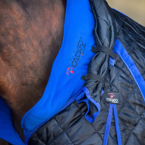 Stable Rug with Neck 300g - Black/Blue Image 3