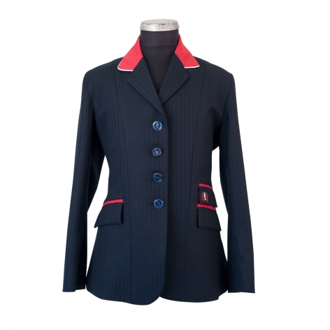 Child's Navy Herringbone Show Jacket Image 1