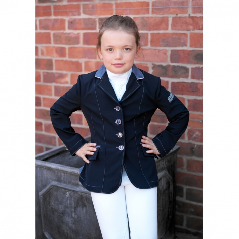 Child's Navy Diamante Technical Show Jacket