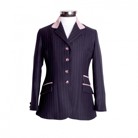 Child's Navy and Diamante Show Jacket Image 1