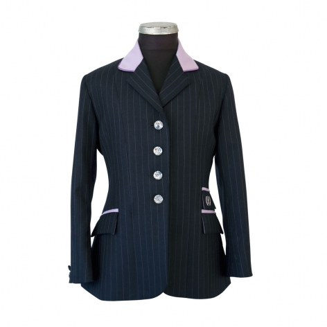 Child's Navy and Lilac Show Jacket Image 1