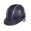 Ayr8 Leather Look Riding Hat - Navy with Sparkly Silver Piping - Sizes 6 7/8 to 8 Image 2