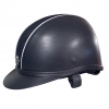 Ayr8 Leather Look Riding Hat - Navy with Sparkly Silver Piping - Sizes 6 7/8 to 8 Image 3