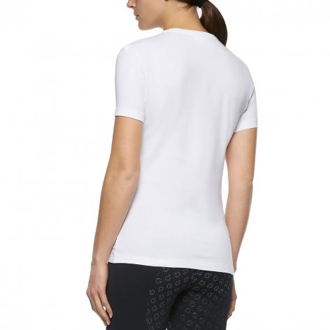 Embossed Logo T-Shirt - White Image 4