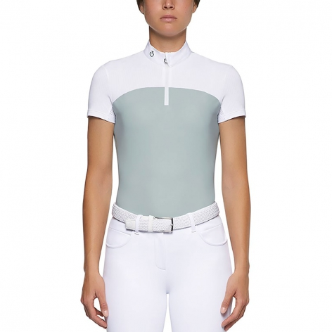 Perforated Stripe Show Shirt - Mint/White Image 3