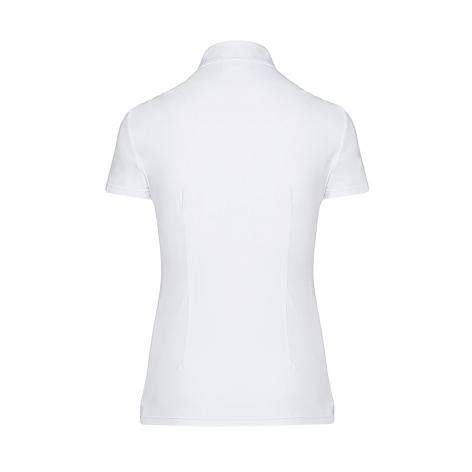 Pleated Jersey Short-Sleeve Show Shirt - White Image 3