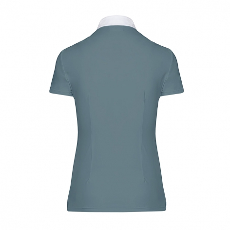 Pleated Jersey Short-Sleeve Show Shirt - Teal Image 3