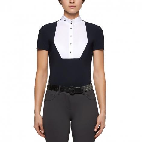 Pentagon Bib Short-Sleeve Show Shirt - Navy Image 3