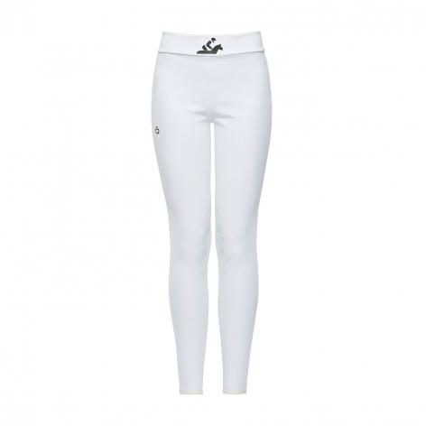 Young Rider Hi-Rise Jersey Leggings - White Image 3