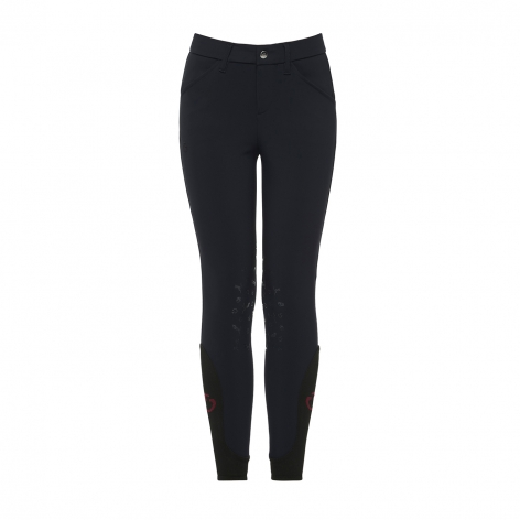 Young Rider Horse & Helmet Breeches - Navy Image 4