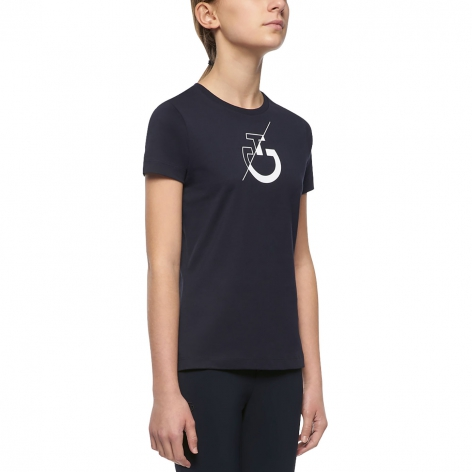 Girl's Team T-Shirt - Navy Image 3