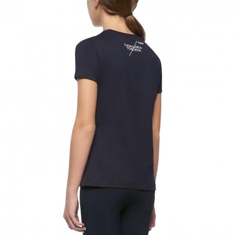 Girl's Team T-Shirt - Navy Image 4