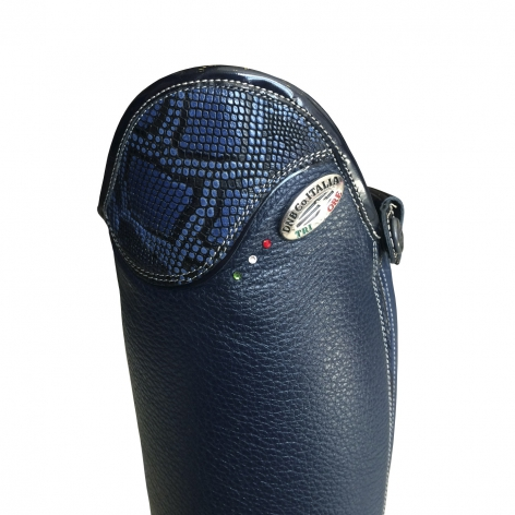 Blue Salentino Riding Boots with Bolgheri Blue Image 3