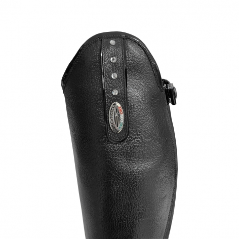 Giulietta Riding Boots with Crystals and Black Patent Trim Image 3