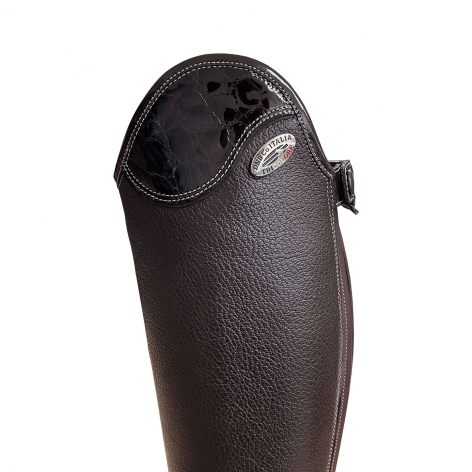 Brown Salentino Riding Boots with Lucidi Brown Top Image 3