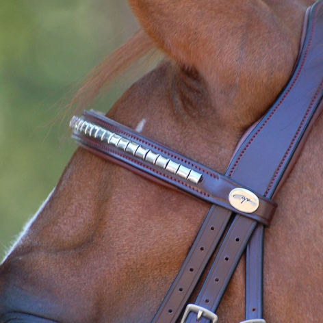 New English Silver Clincher Browband B003CS Image 3