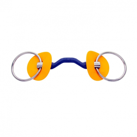 Bombers Blue Loose Ring Snaffle