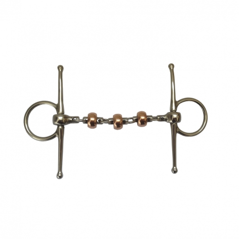 Copper Roller Waterford Full Cheek Snaffle