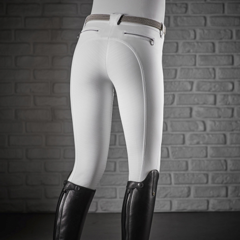 Cedar Full Grip Breeches - White Image 3