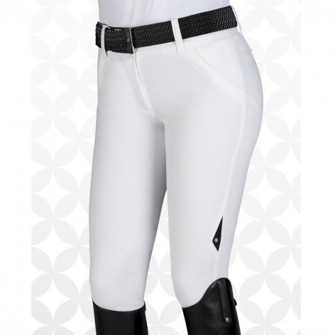 X-Shape Knee Grip Breeches - White Image 2