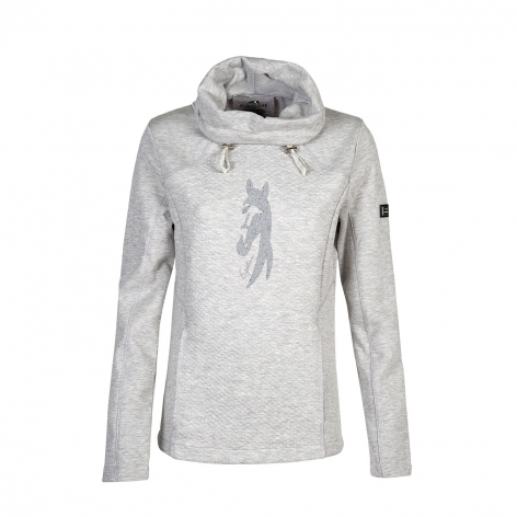 Equiline Grey Hooded Top
