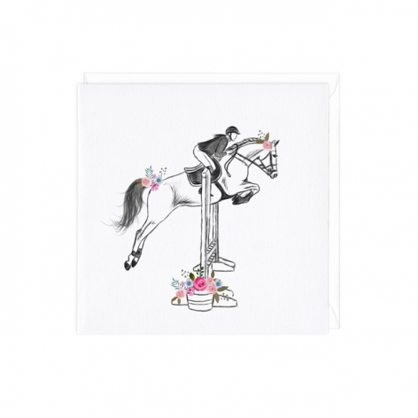 Show Jumping Greetings Card