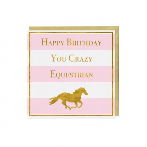 Equestrian Happy Birthday Card