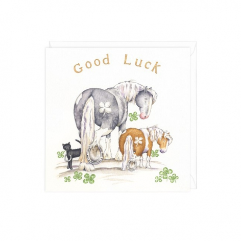 Equestrian Good Luck Card