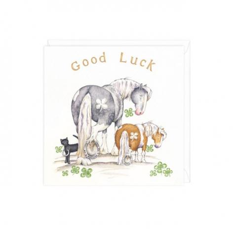 Equestrian Good Luck Card