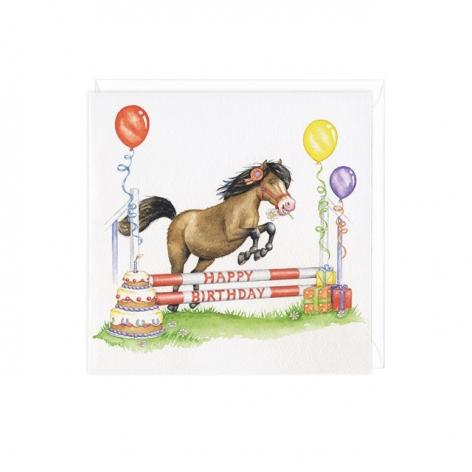 Showjumping Birthday Card