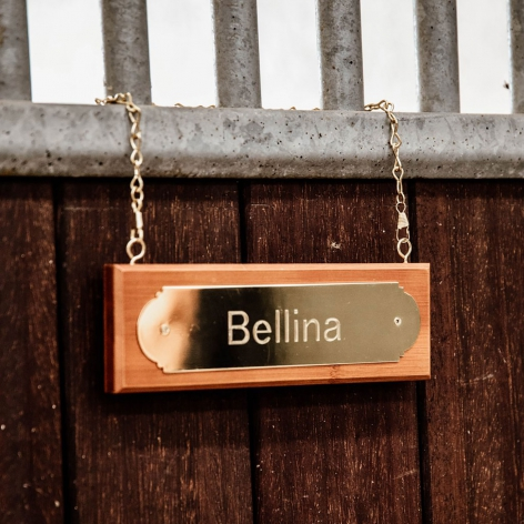 Horse Stable Name Plate