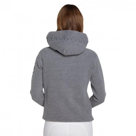 Sporting Crest Hoodie - Grey Marl Image 3