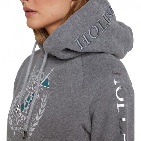 Sporting Crest Hoodie - Grey Marl Image 4