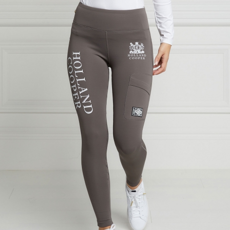 Grey Thermal Riding Leggings