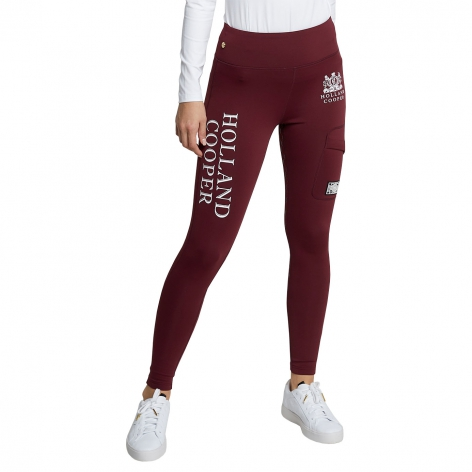 Holland Cooper Burgundy Leggings